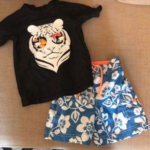 Carters swim shorts with Circo swim shirt
